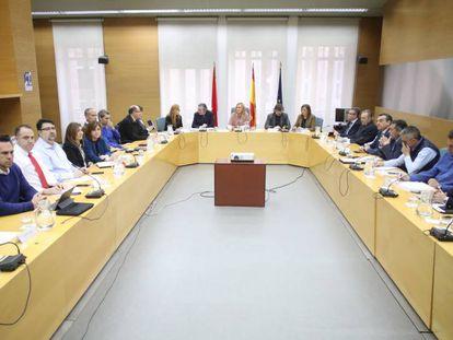 Imagen de la reunión del Consejo Regional del Transporte por Carretera.