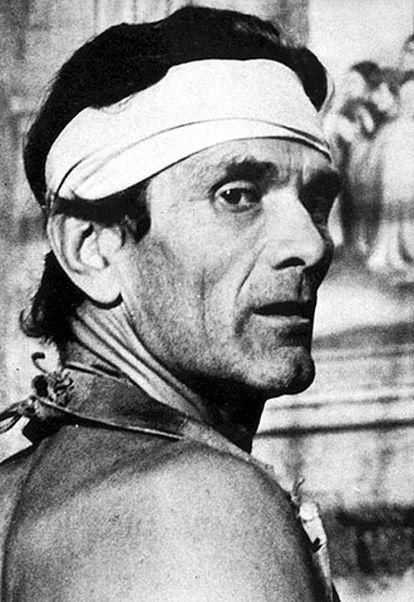 Pier Paolo Pasolini, en el rodaje de <i>120 días de Sodoma.</i>