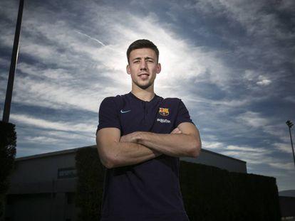 Lenglet, en la ciudad deportiva del Barça.