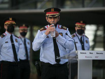 El 'major' de los Mossos d'Esquadra, Josep Lluis Trapero, en una rueda de prensa, el pasado 13 de noviembre