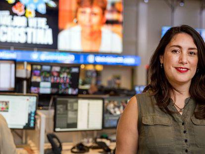 La periodista Inger Díaz este martes en la Redacción de Univisión Noticias.
