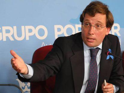 Jose Luis Martínez-Almeida (PP) en el Ayuntamiento de Madrid.