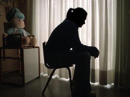 Una víctima de maltrato, en una foto de archivo.