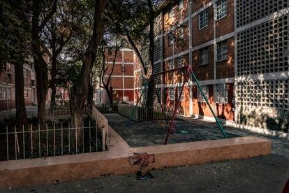 Gardens of the El Cobre Housing Unit in Mexico.