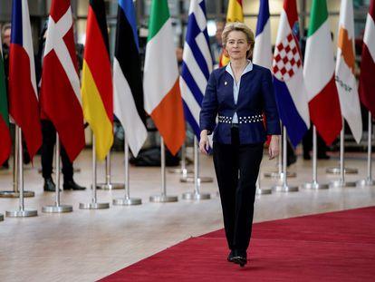 La presidenta de la Comisión Europea, Ursula von der Leyen, en Bruselas el pasado mes de diciembre.