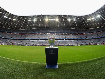 El trofeo de la Champions, en el Allianz.