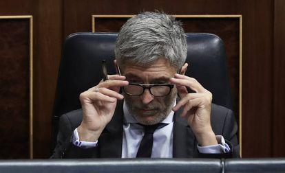 Fernando Grande-Marlaska, el pasado día 20 en el Congreso.