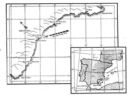 Esquema del accidente de Palomares recogido en un informe de 1975 sobre el siniestro de la Agencia Defensa Nuclear de Estados Unidos.
