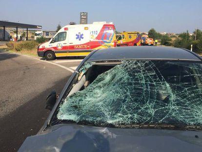 Estado del coche implicado en el atropello.