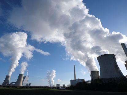 Una planta de generación eléctrica de carbón en Alemania.
