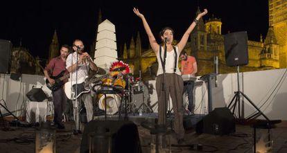 Un espectáculo en la azotea de la Casa de la Provincia de Sevilla.