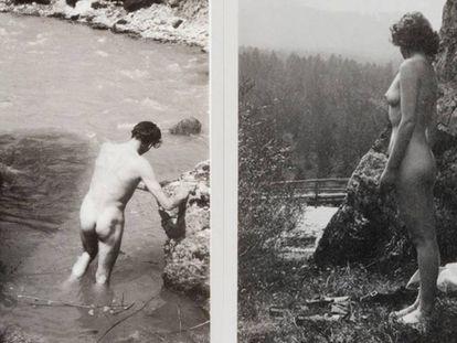 Laurence Olivier y Vivien Leigh, durante su luna de miel en 1940, en unas fotos inéditas de la pareja que acaban de subastarse.