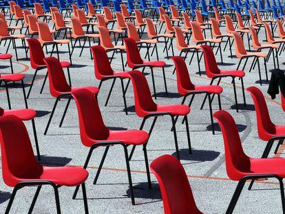 Los científicos recomiendan trasladar al exterior toda actividad que sea posible, como en el festival de cine de Sarajevo.