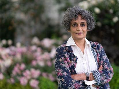 Arundhati Roy, en el Hay Festival en Gales, en junio de 2019.