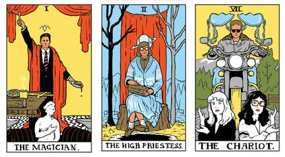 Un tarot con los personajes de 'Twin Peaks'.