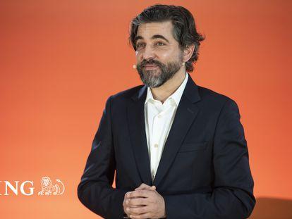 Ignacio Juliá, consejero delegado de ING España, durante la presentación de los resultados de 2020.