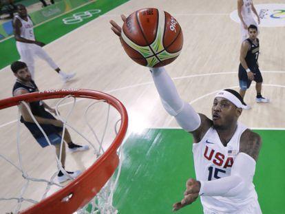 Carmelo Anthony, en un partido con Estados Unidos.