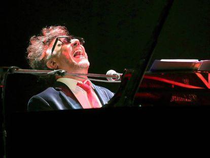 Fito Páez, durante su concierto en Madrid el 29 de enero.