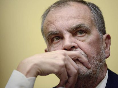 El senador condenado, Roberto Calderoli, el pasado octubre en Roma.