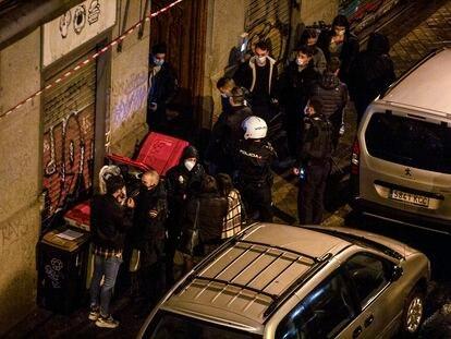 Redada en una casa del centro de Madrid contra una fiesta ilegal.