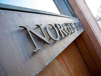 Sede del Norges Bank, banco central de Noruega.