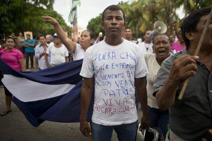Ciudadanos protestan contra la construcción del canal, en octubre