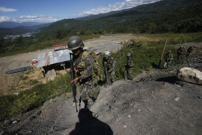 Militar en la región del VRAEM, donde está presente la guerrilla maoísta Sendero Luminoso.