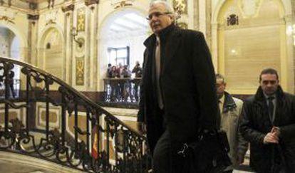 Garzón, en el Tribunal Supremo el lunes de la semana pasada.