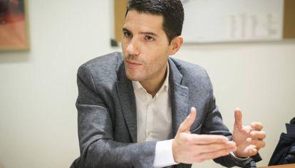 Nacho Martín, durante la entrevista, en la sede de Ciutadans.