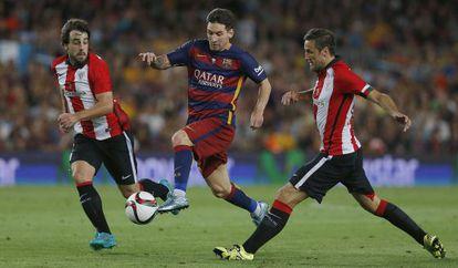 Messi durante el partido de la Supercopa de este lunes.