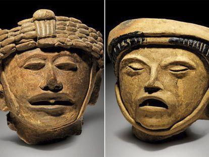 Piezas prehispánicas de Veracruz subastadas por la casa Gerhard Hirsch en Alemania.