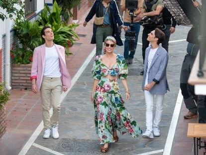 Lady Kitty Spencer durante el rodaje de un anuncio en Marbella el 25 de febrero de 2020.