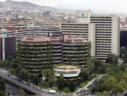 Vista del edificio del Grupo Planeta en la avenida Diagonal de Barcelona.
