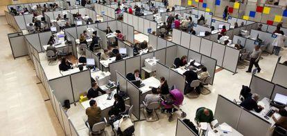 Vista de una sede de la Agencia Tributaria en Madrid.