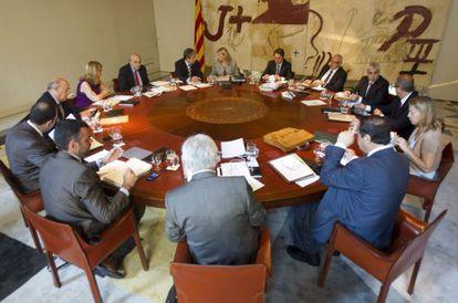 Reunión semanal del Gobierno catalán de hoy