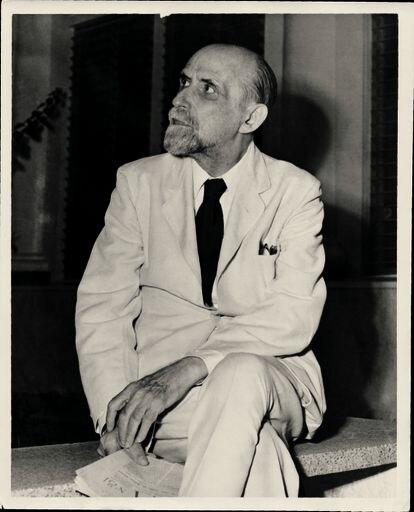 Juan Ramón Jiménez, retratado en 1952.