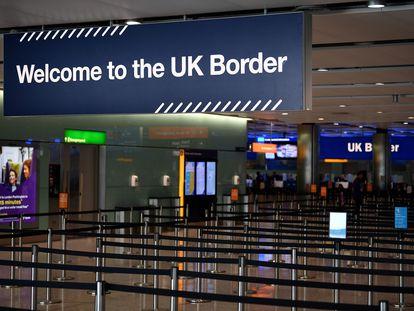 Terminal de control de frontera en el aeropuerto londinense de Heathrow