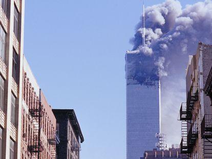 Una de las dos Torres Gemelas tras los atentados del 11-S   (Foto de ARCHIVO) 01/01/1970
