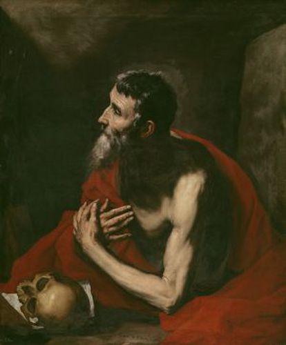 'San Jerónimo' pintado por José de Ribera en 1644.