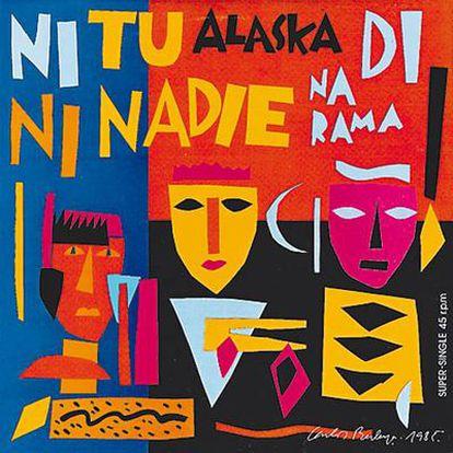 Portada para<i> Ni tú ni nadie </i>(1985), disco de Alaska y Dinarama, realizada por Carlos Berlanga.
