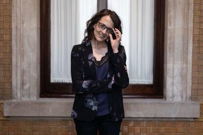 Tània Verge, consejera  de Igualdad y Feminismos. en el Parlament de Catalunya.