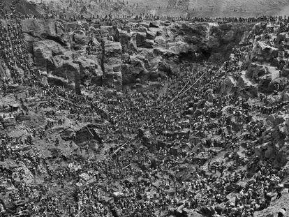 Vista general en 1986 de la mina de Serra Pelada, donde trabajaron 50.000 buscadores de oro.