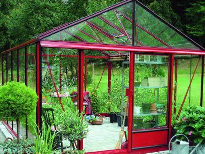 Invernadero con paredes en cristal, de la Casa Verde