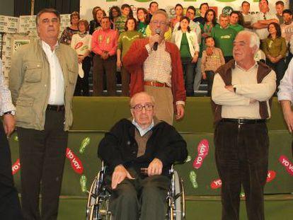 De izquierda a derecha, Antonio Ortega, Miguel Ángel Arredonda, Alejandro Rojas-Marcos, Diego de los Santos y Julián Álvarez.