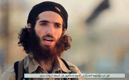 El terrorista Abu Lais 'el Cordobés' cuyas amenazas se hicieron virales en las redes sociales este verano.