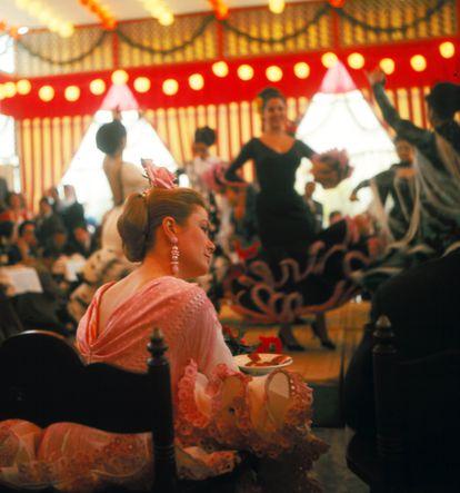 Grace Kelly, princesa de Mónaco, en la feria de Sevilla de 1966.