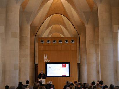 Presentación en la Sagrada Familia de las actividades de Catalonia Sacra.