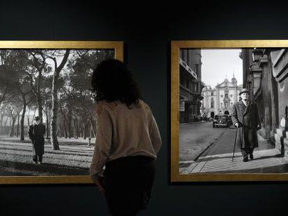 Baroja, a la izquierda, y Azorín, a la derecha, al final de sus vidas en dos fotografías de la exposición.