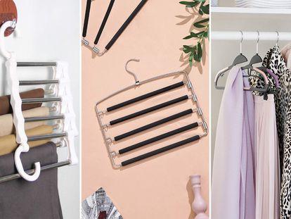 Elegimos una serie de perchas para ahorrar espacio en los armarios de casa.