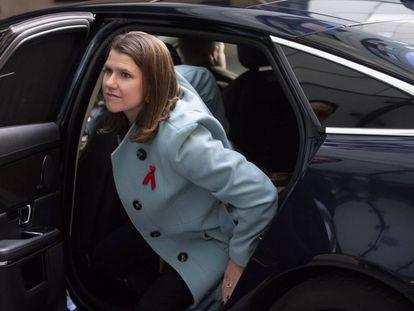 La candidata del Partido Liberal Demócrata, Jo Swinson, este domingo en Londres